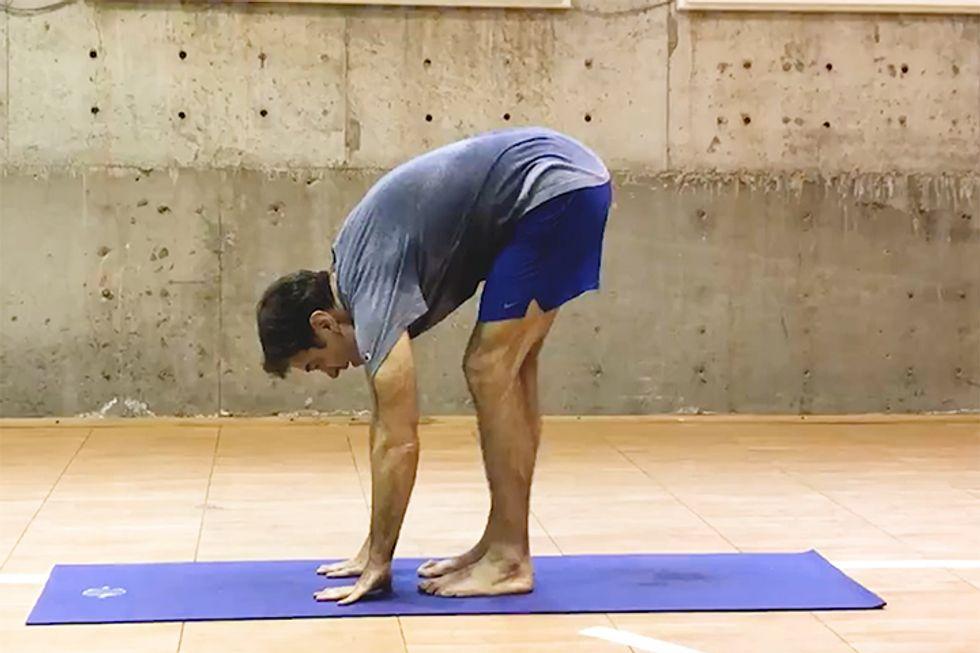 Dr. Oz doing yoga