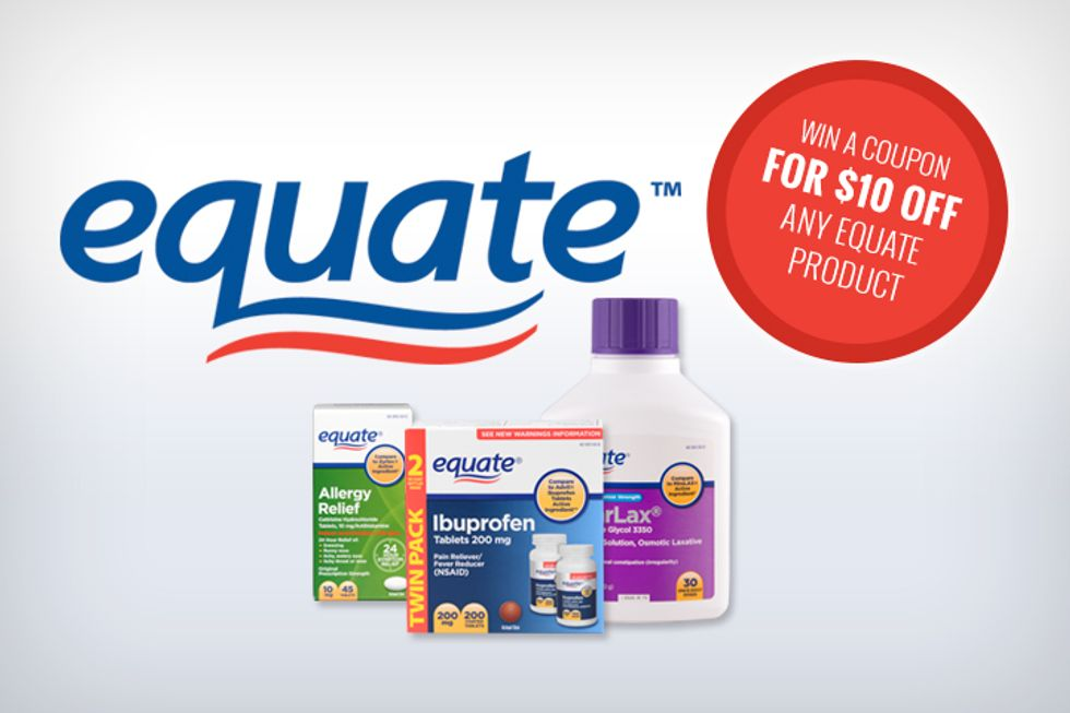 Equate Giveaway: Get a $10 Off Coupon