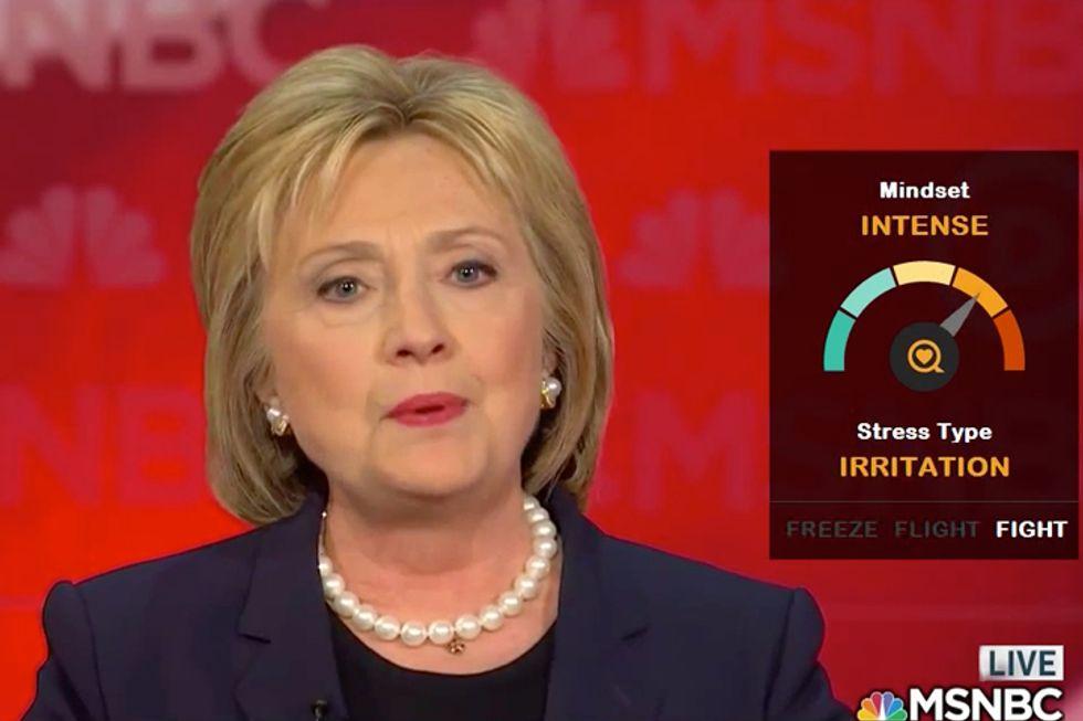 Gauging Presidential Candidates' Stress Levels in Debates
