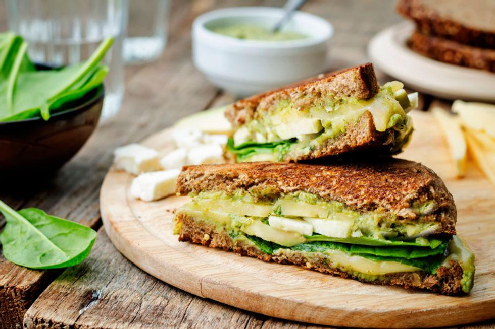 Avocado Sandwich With Lemon and Cilantro