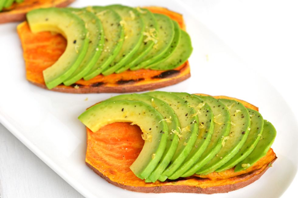 Sweet Potato Toast With Avocado