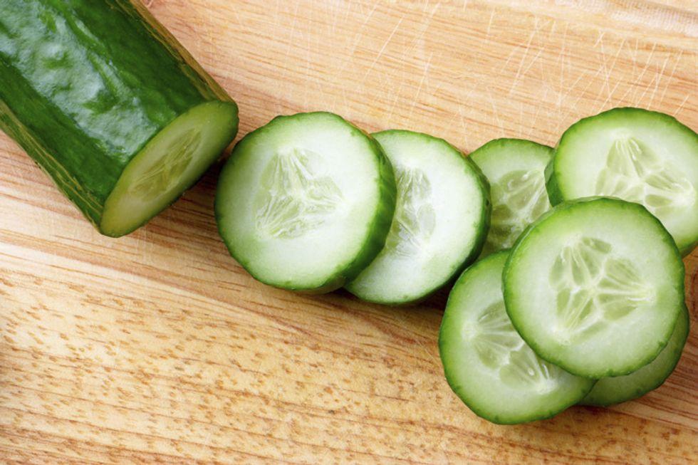 James and Kimberly Van Der Beek's Israeli Salad