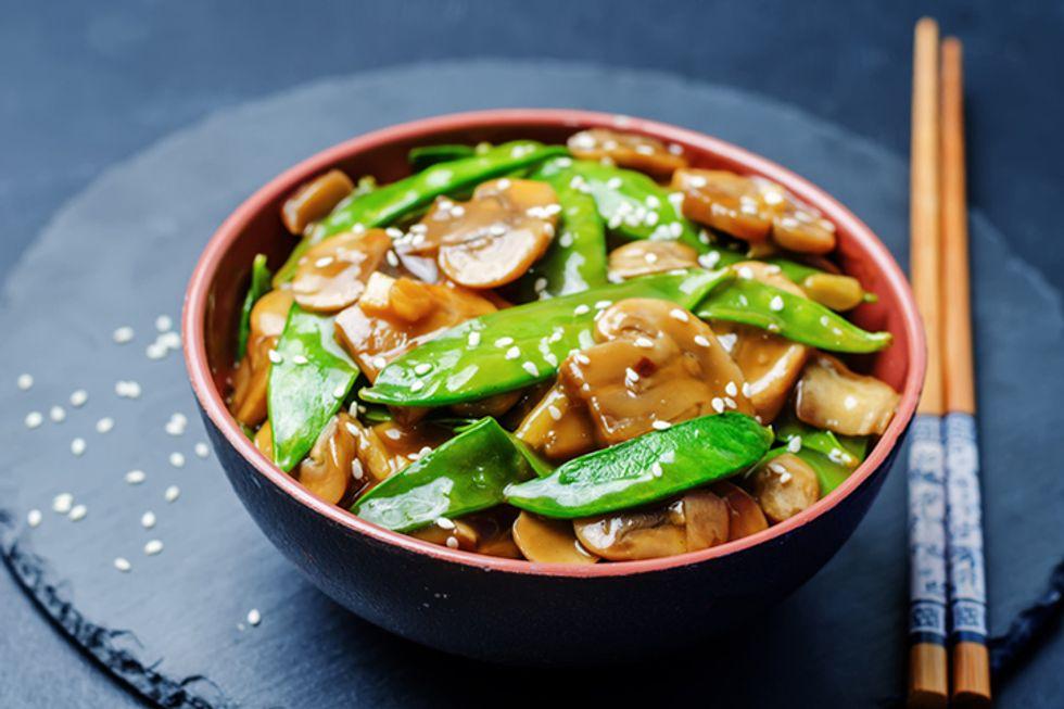 Ming Tsai's Mushroom and Bok Choy Stir Fry