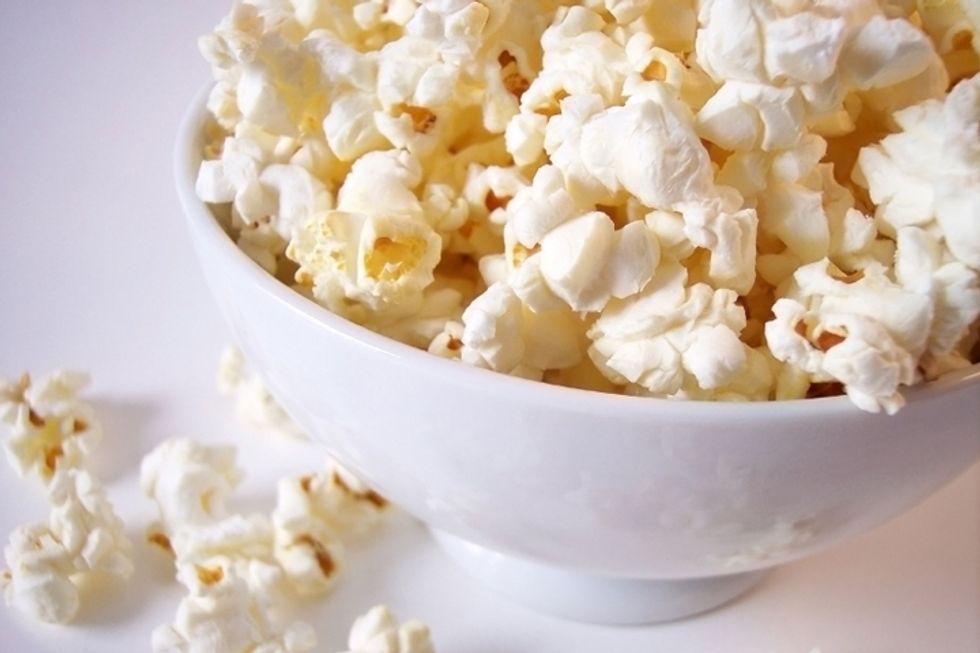 Olive Oil and Salt Popcorn