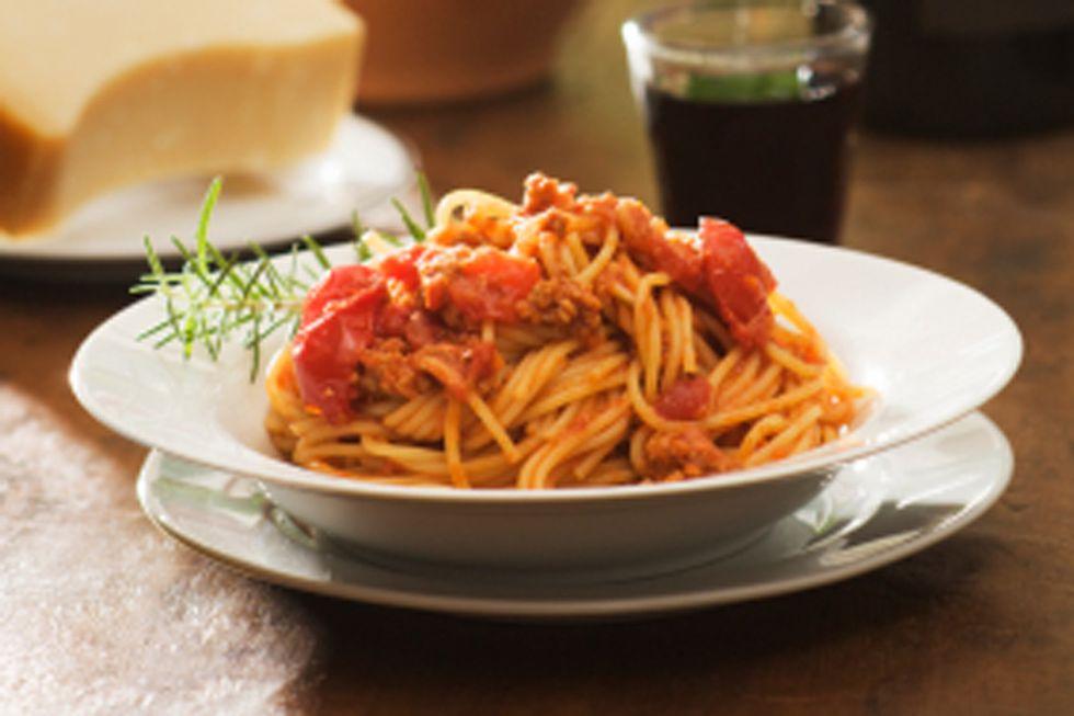 The Kitchen Diva's Vegetarian Spaghetti Bolognese