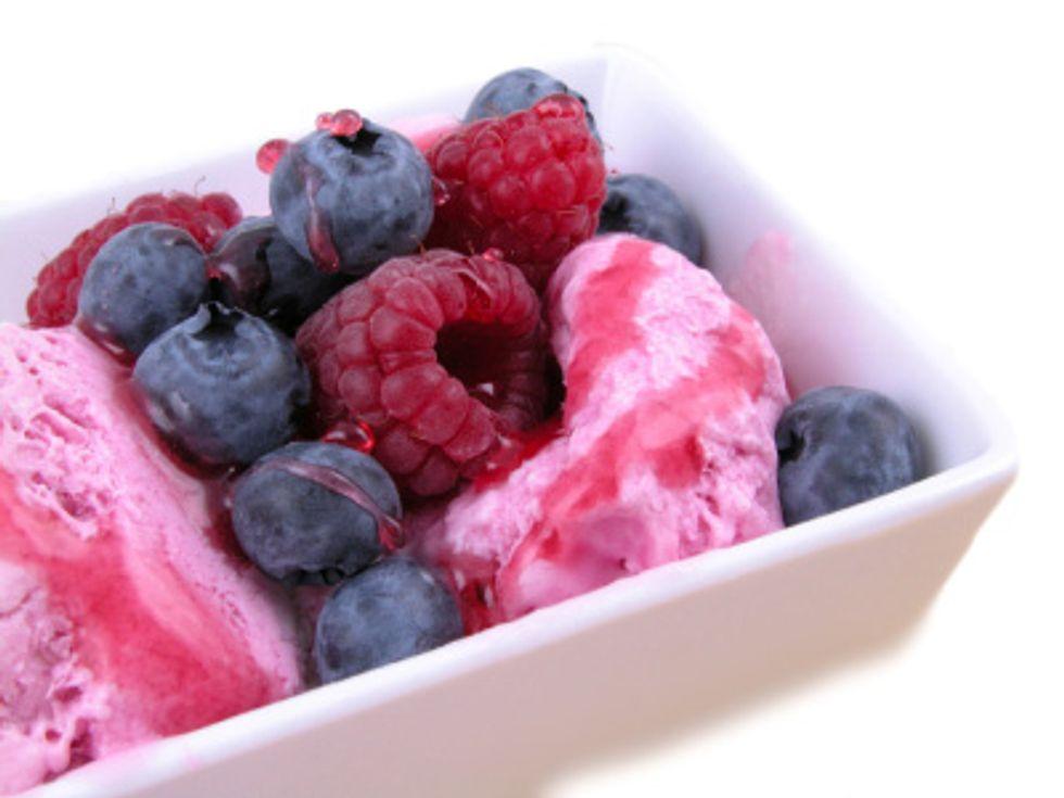 Delicious Raspberry, Blueberry & Almond Sherbet