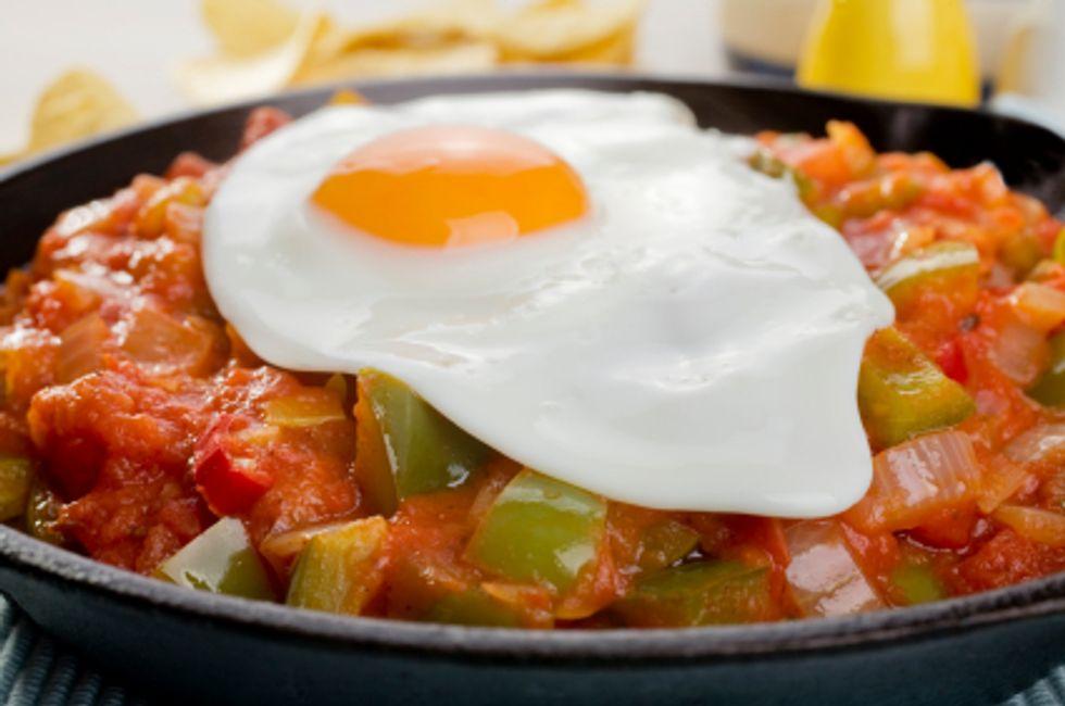 Dave Lieberman's Eggs in Ancho-Tomato Salsa