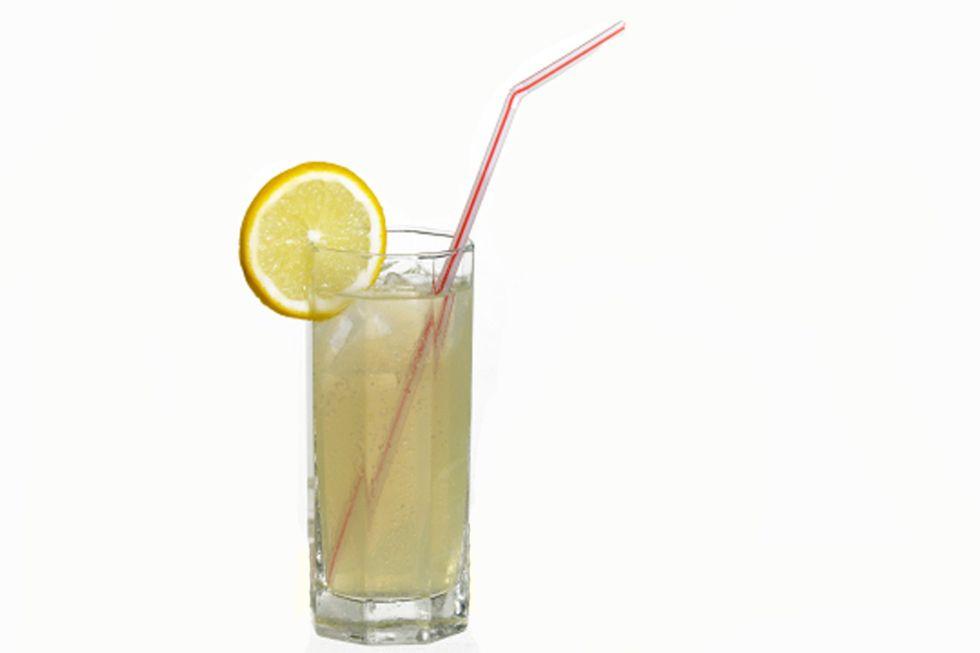 Lemon Juice and Flaxseed Drink