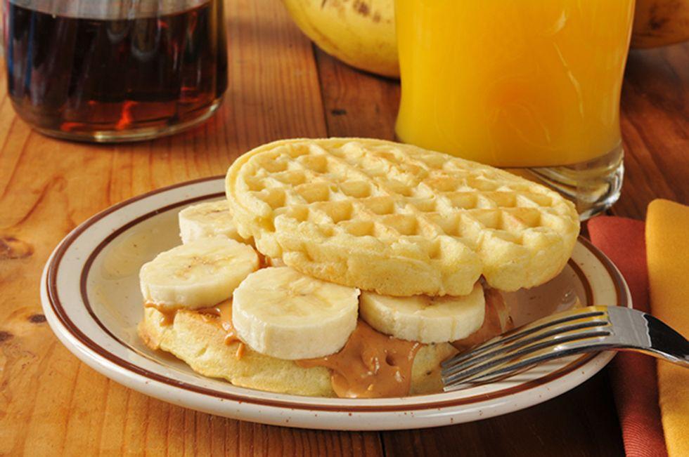 Devin Alexander's Peanut Butter And Banana Waffle Sandwich