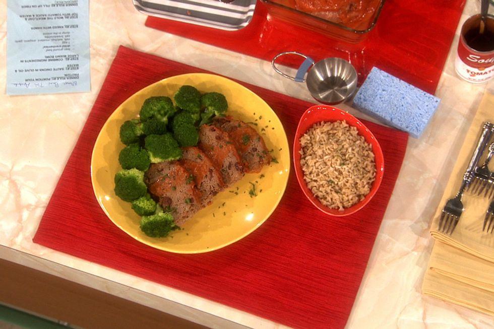 500 Calorie Cranberry Meatloaf Dinner