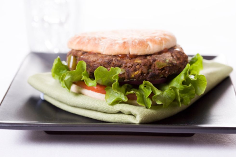 Turkey Black Bean Burger With Zucchini Fries by the Deen Brothers