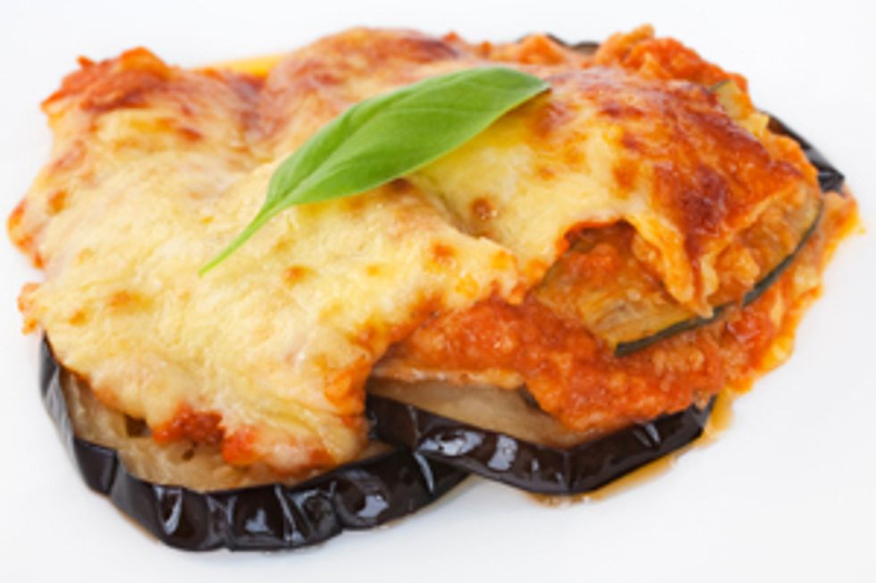 Low-Fat Eggplant Bake by the Deen Brothers