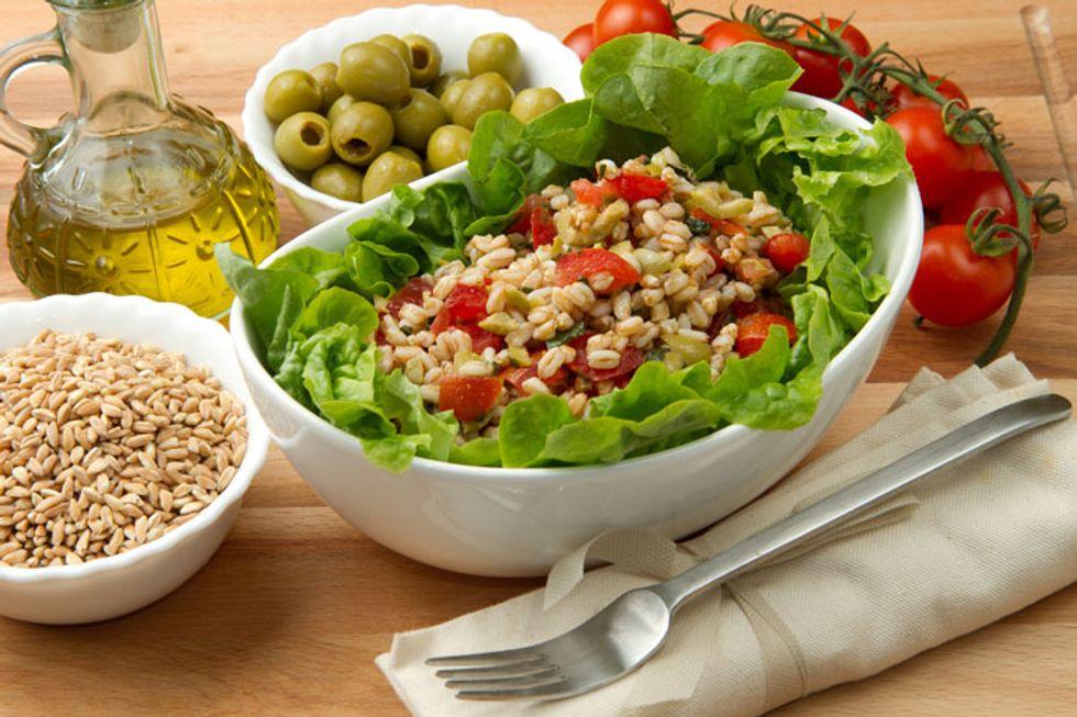 Hulled Barley Veggie Salad
