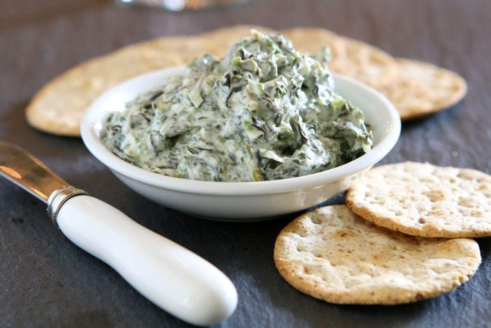 Ming Tsai's Watercress-Artichoke Dip With Whole-Wheat Pita Chips