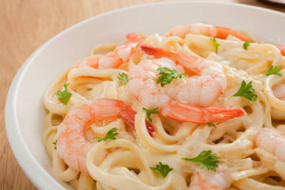 Hungry Girl's Shrimp Fettuccine Alfredo