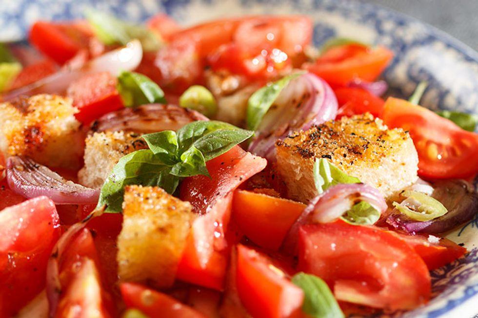 Chia Panzanella Salad