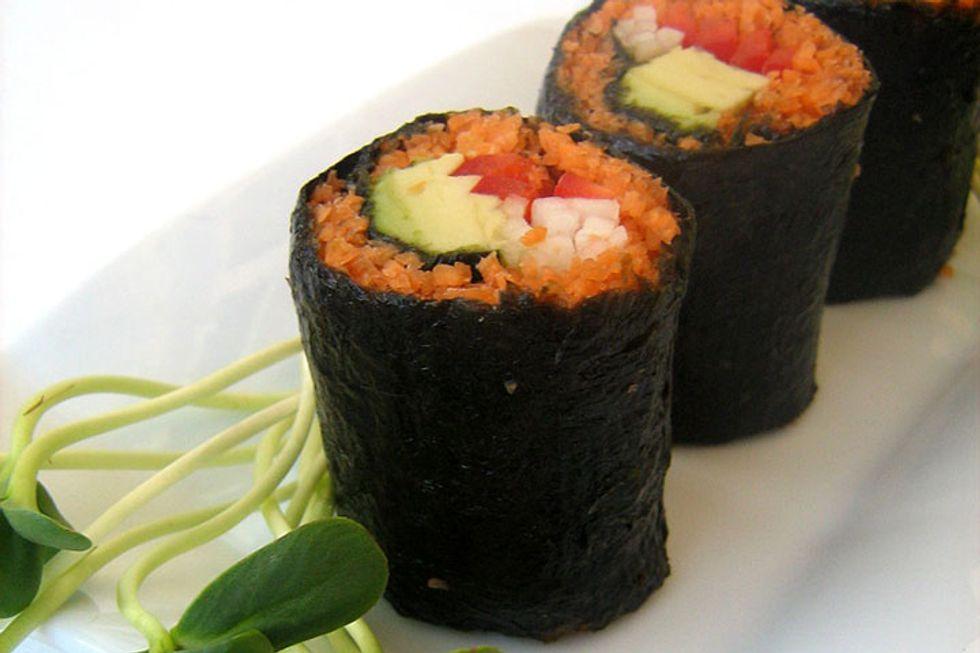 Raw Vegan Carrot Sushi