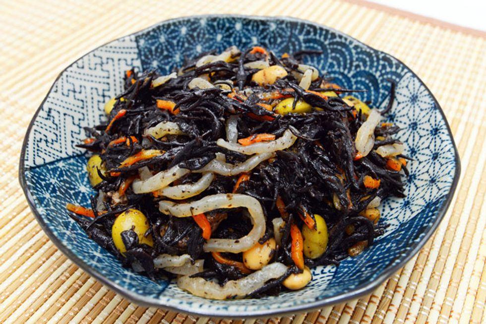 Teriyaki Stir-Fry with Kombu and Shrimp