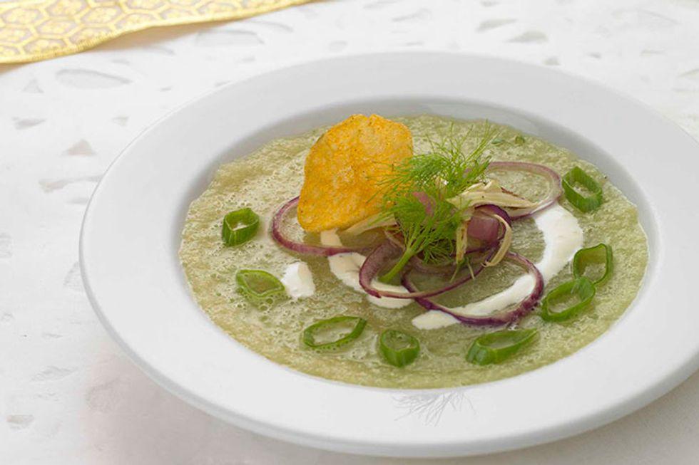 Warm Christmas Pea Soup