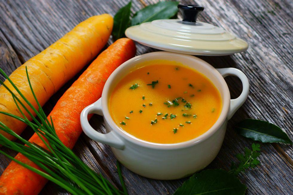James and Kimberly Van Der Beek's Carrot, Ginger, Turmeric Soup