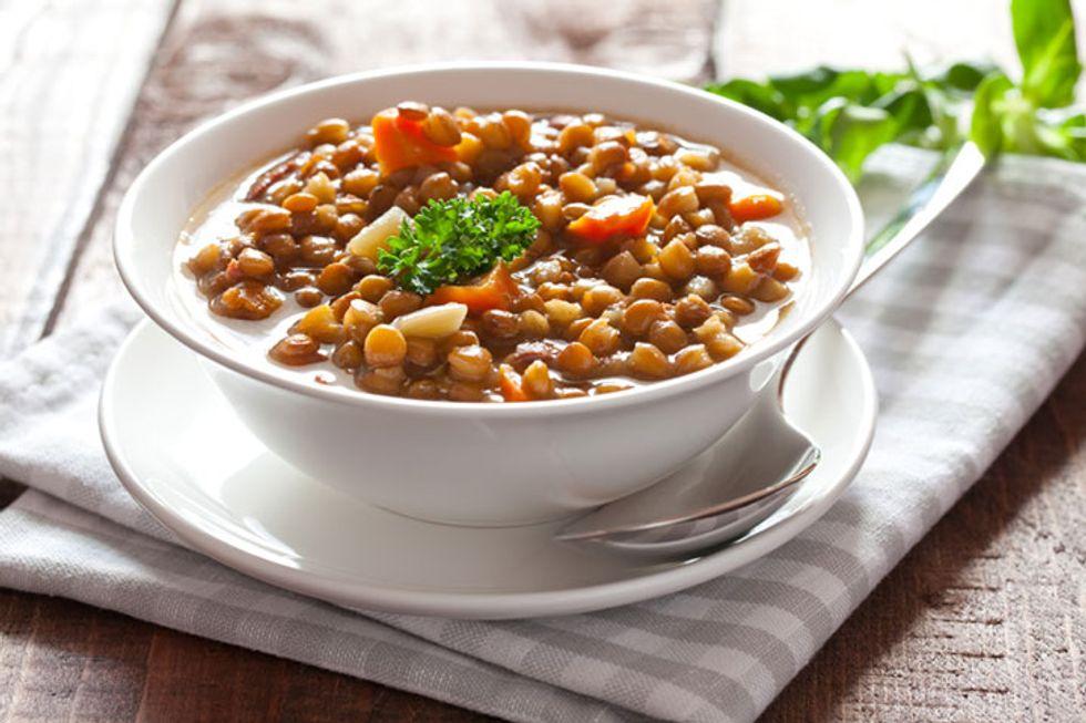 The Daniel Plan: Veggie, Lentil, and Chicken Sausage Soup