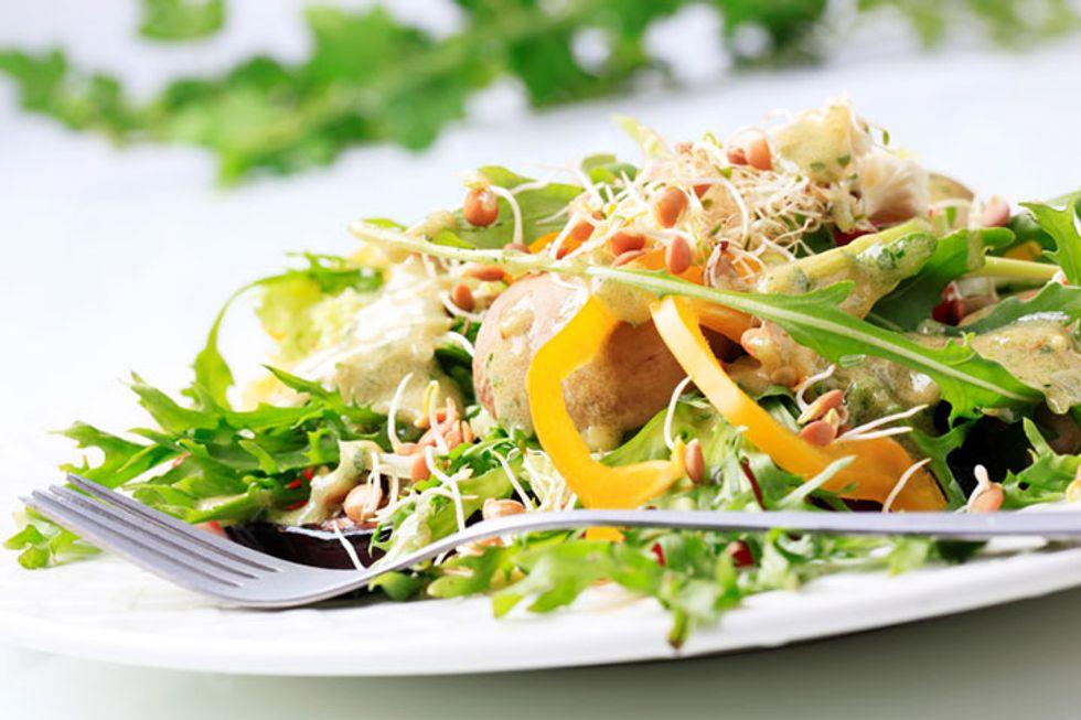 Fenugreek Lentil Salad