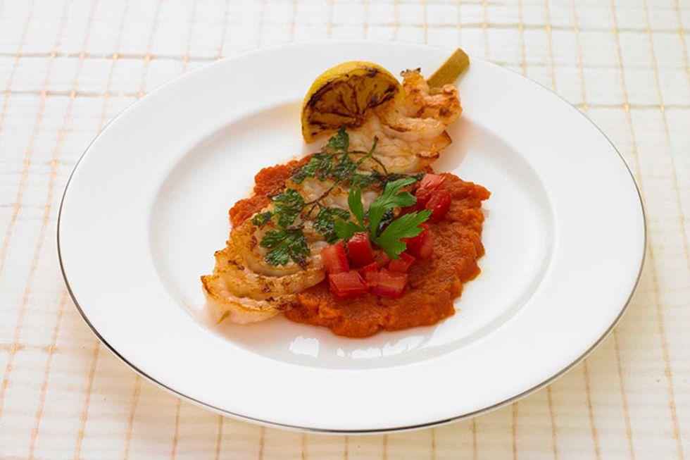 Shrimp with Tomato Concasée