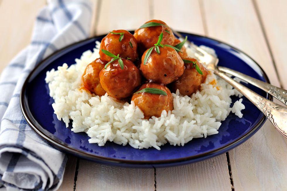 Venison Meatballs in Orange-Gin Broth