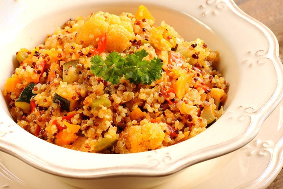 Turmeric Roasted Cauliflower with Quinoa