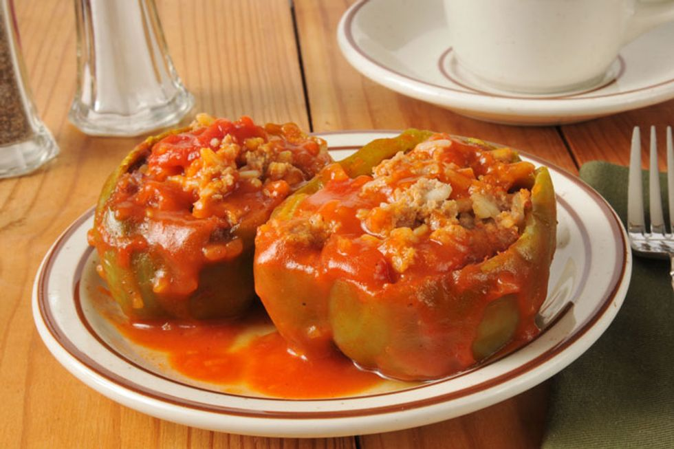 Annie's Recipes for Health: Stuffed Green Peppers