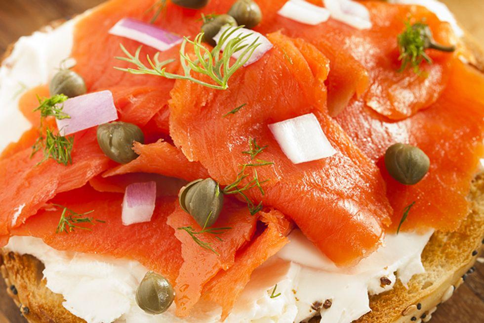 Dr. Petrucci's Smoked Salmon Wraps