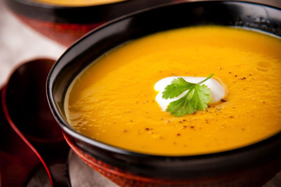 Chilled Butternut Squash and Tomato Soup