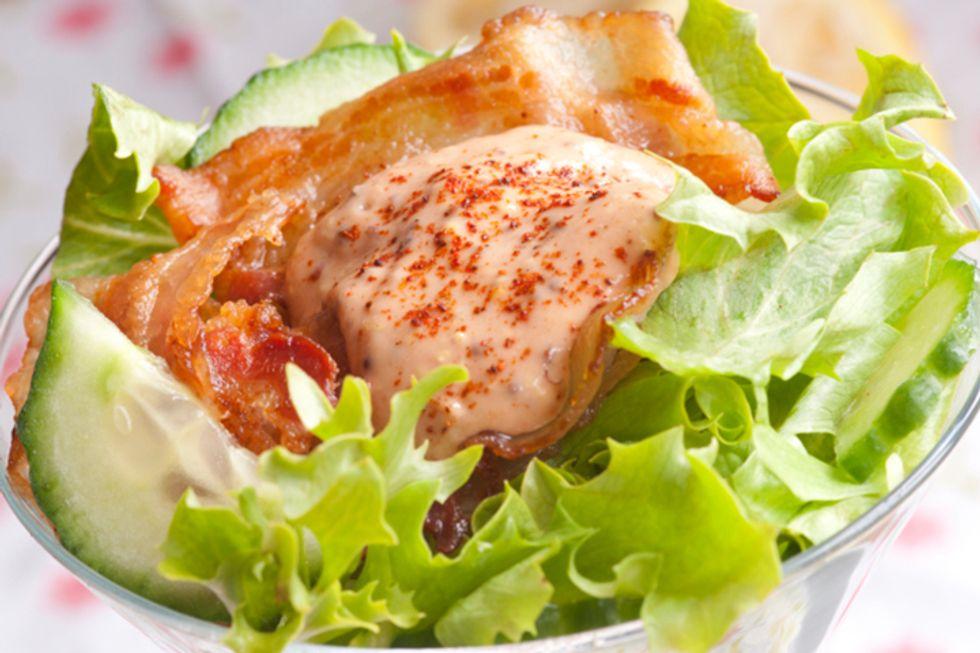 Warm Swiss Chard, Pancetta and Almond Salad