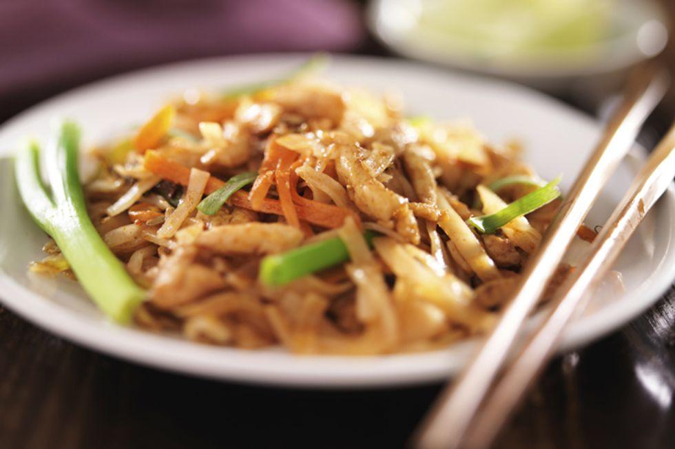 Chicken and Spaghetti Squash Pad Thai