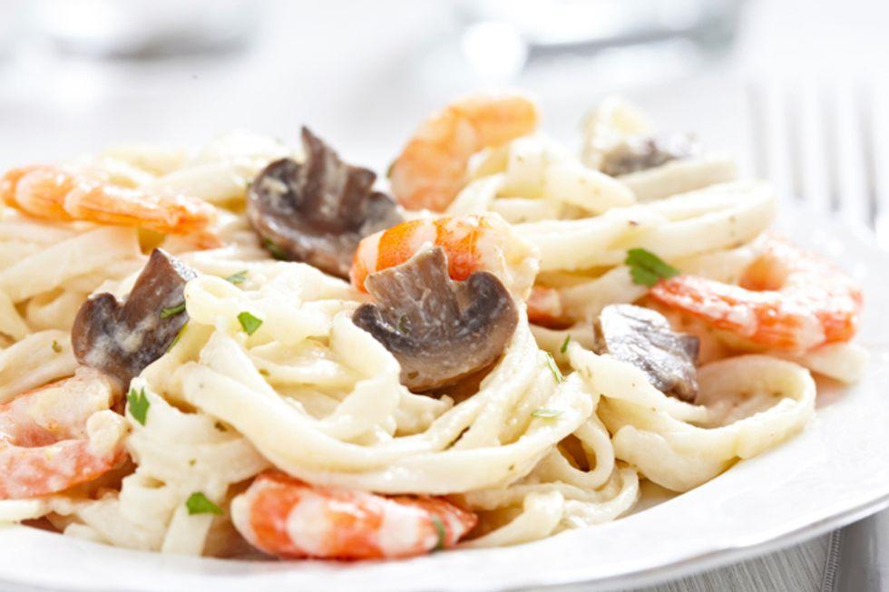 Shrimp and Shiitake Pasta