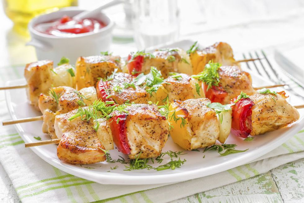 Mediterranean-Style Chicken Kabobs