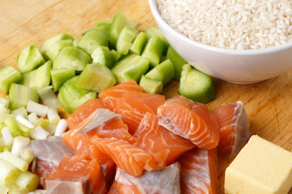 Pan-Seared Salmon in Rice Wraps