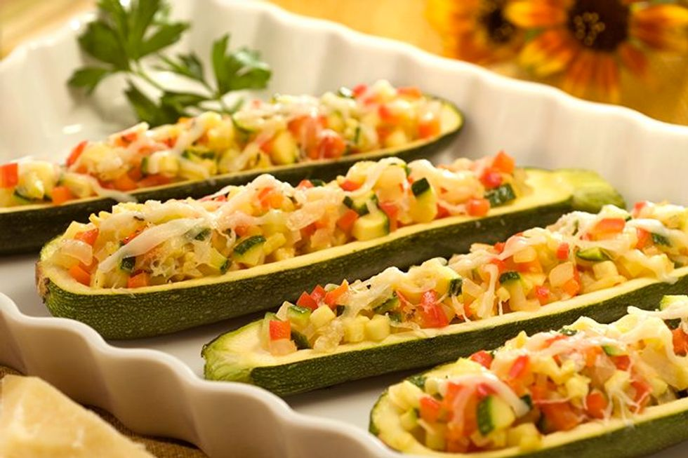 Zucchini Bean Salad With Apple Cider-Pumpkin Seed Oil Dressing