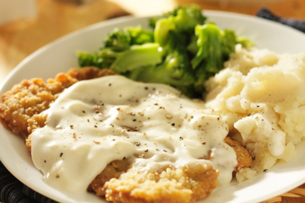 Paula Deen's Chicken-Fried Steak With Cream Gravy