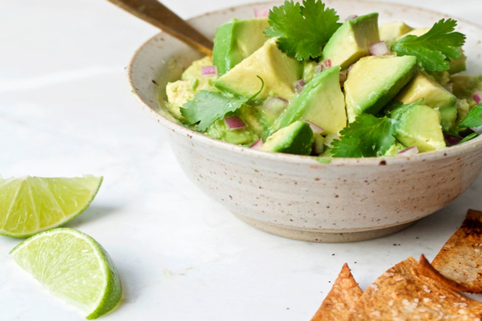 Clean Green Guacamole and Homemade Chili-Lime Chips