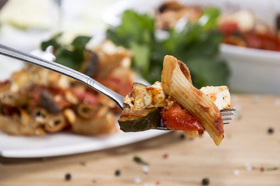 Lidia Bastianich's Baked Whole Wheat Ziti With Chicken and Zucchini
