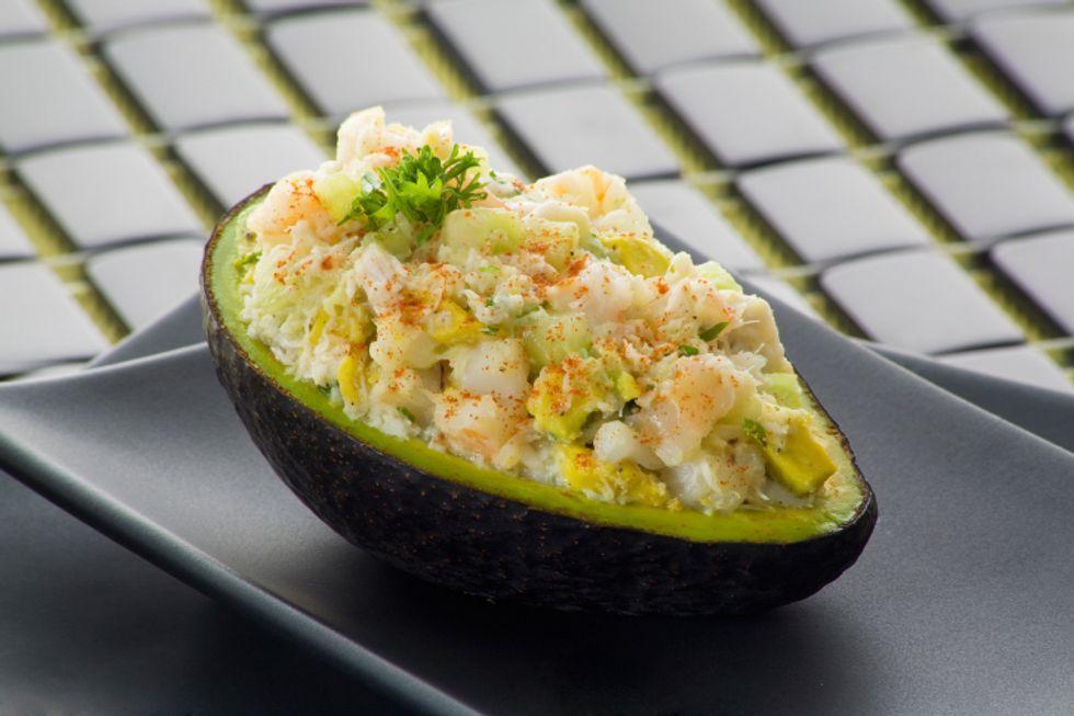 Salmon Stuffed Avocado