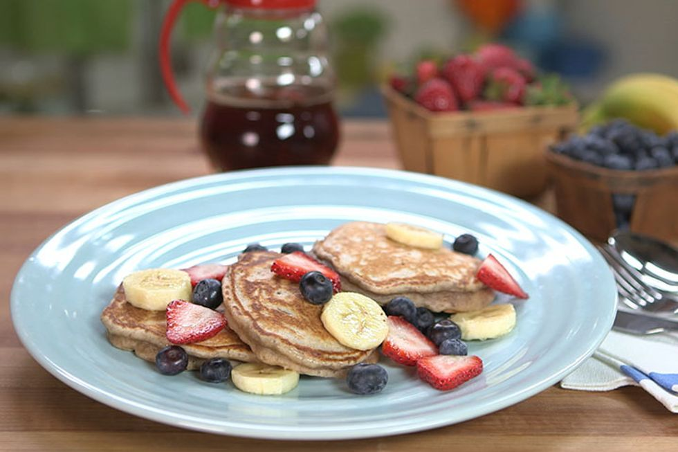 Whole Wheat Walnut Pancakes Recipe