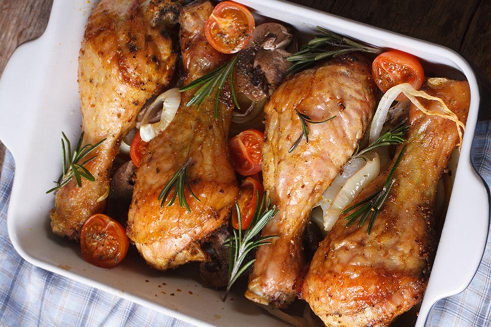 Roasted Chicken Drumsticks With Herb-Garlic Rub