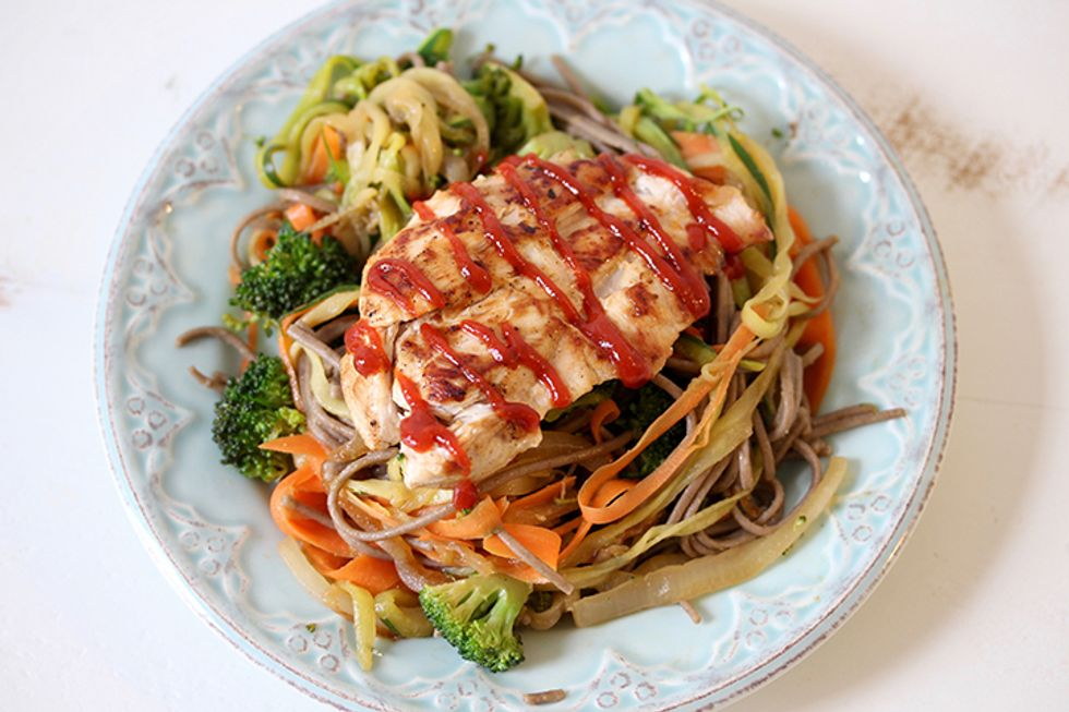 The 28-Day Shrink Your Stomach Challenge Soba Noodle Chicken Stir Fry