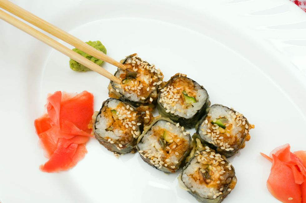 Rocco DiSpirito's Cucumber and Almond Rice Sushi