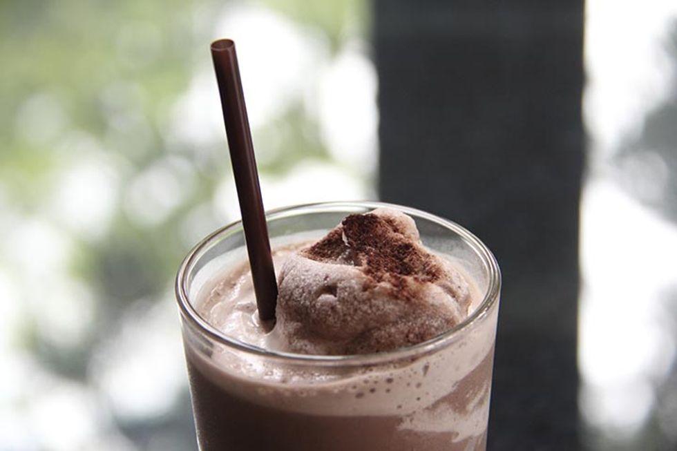 Maria Menounos' Coffee-Coconut-Almond Frosty