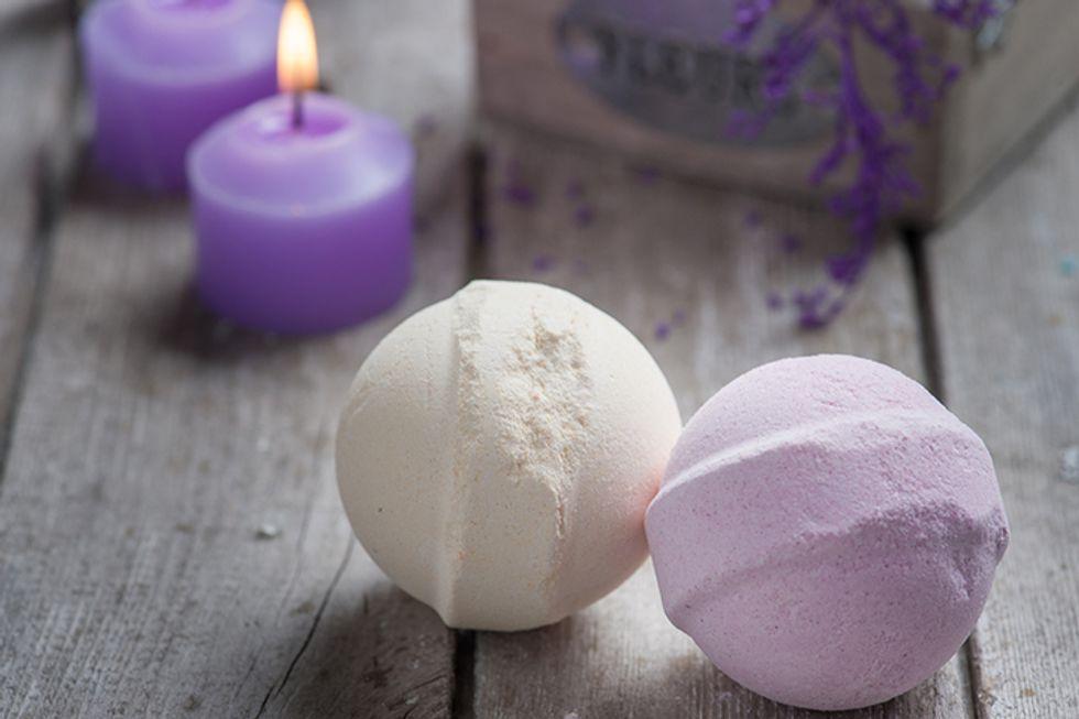 Candice Kumai's Soothing Matcha Lavender Bath Bombs