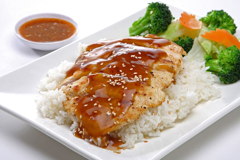 Parchment-Baked Teriyaki Chicken or Tofu