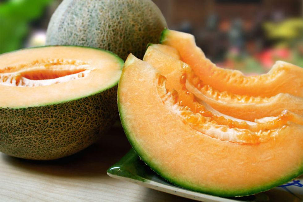 Cucumber and Grilled Cantaloupe Salad